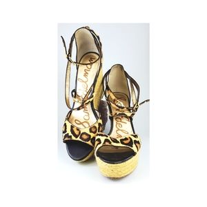 Sam Edelman Leopard Wedges.